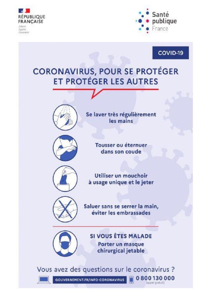 Coronavirus : pour se protéger et protéger les autres